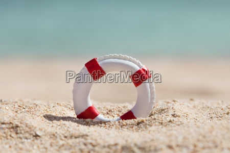 close up of miniature lifebuoy