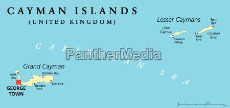cayman islands political map