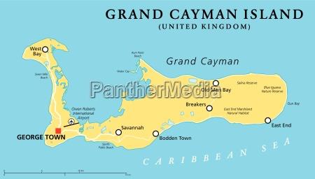 grand cayman island political map