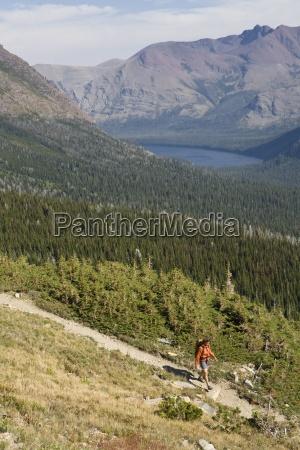 solo frauen wandern aus den bergen