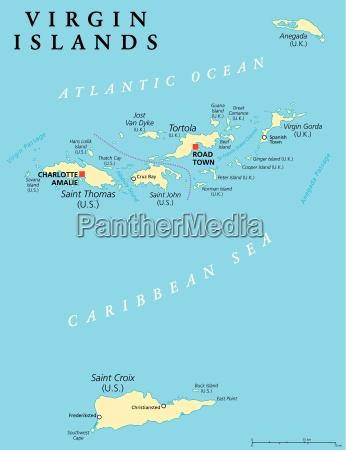 virgin islands political map