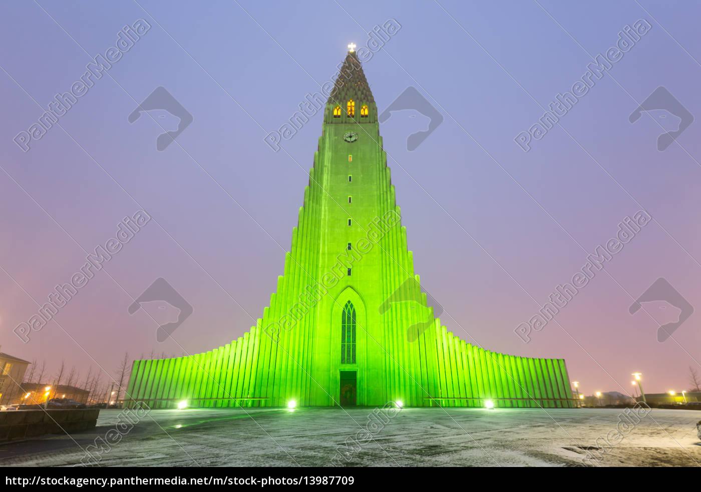 kathedrale, hallgrimskirkja, reykjavik, island - 13987709