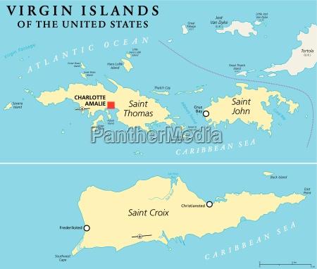 united states virgin islands political map