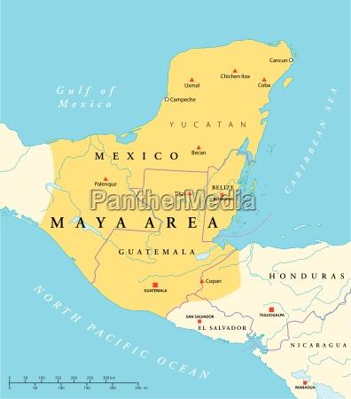 karte maya hochkultur der gegend