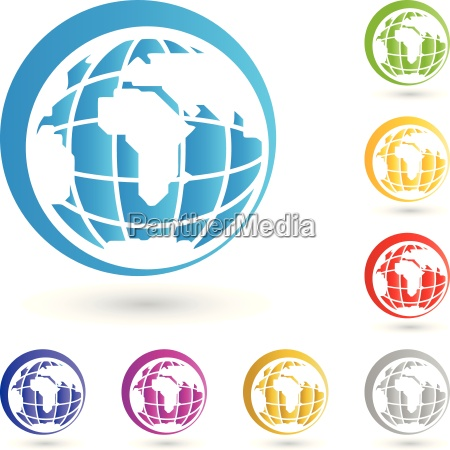 weltkugel logo erde globus
