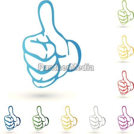 hand logo daumen super