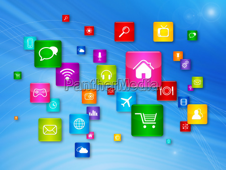fliegen desktop icons sammlung