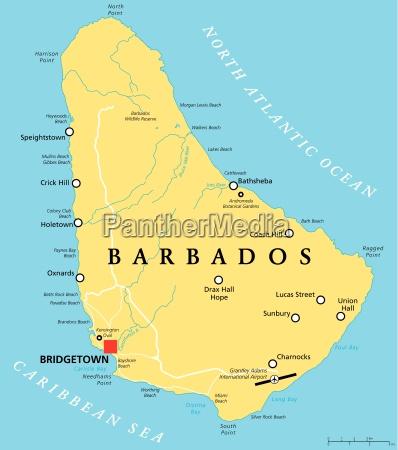 barbados political map