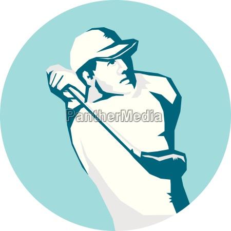 golfer abschlag golf schablone