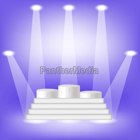 pidium gewinner auf blauem licht hintergrund
