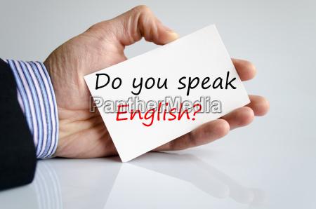 sprichst du englisch