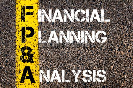 business akronym fp a finanzplanung