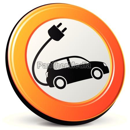 elektro auto ikone