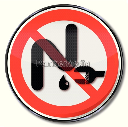 prohibition sign with siphon