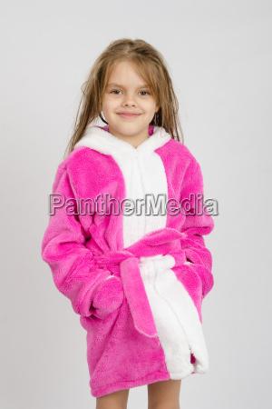 portrait of six year girl in