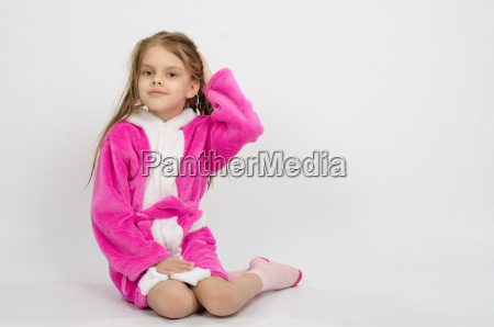 six year old girl in a