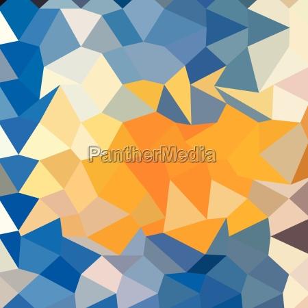 azure blue abstract low polygon hintergrund