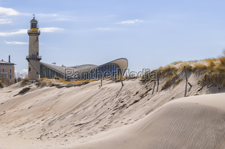 lighthouse warnemunde sand dune