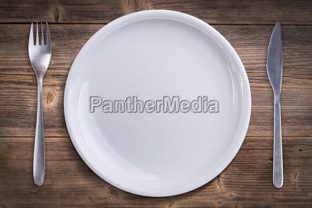 weisse platte