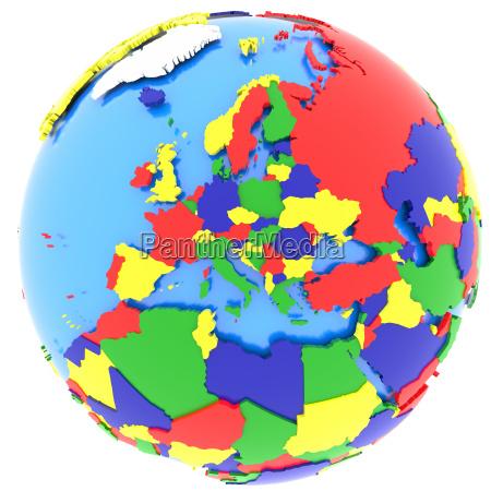 europa auf der erde