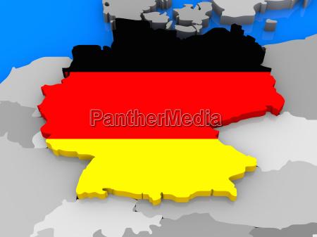 deutschland stand aus karte