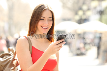 woman using a smart phone in