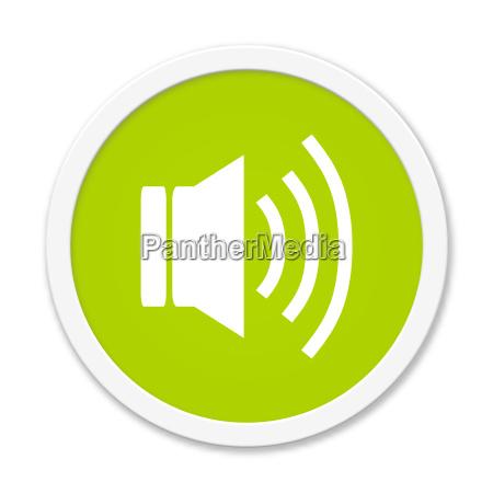 runder gruener button audio