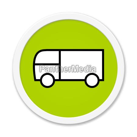runder button lieferwagen
