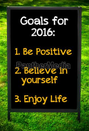 goals fuer 2016