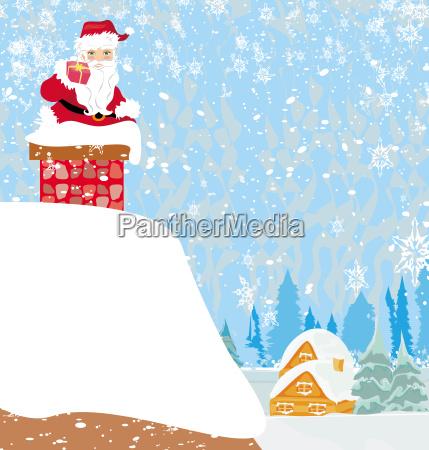 weihnachtsmann steckte im schornstein fest