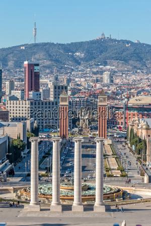 landschaft von barcelona spanien