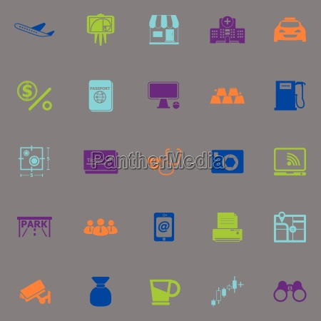 application fluorescent color icons