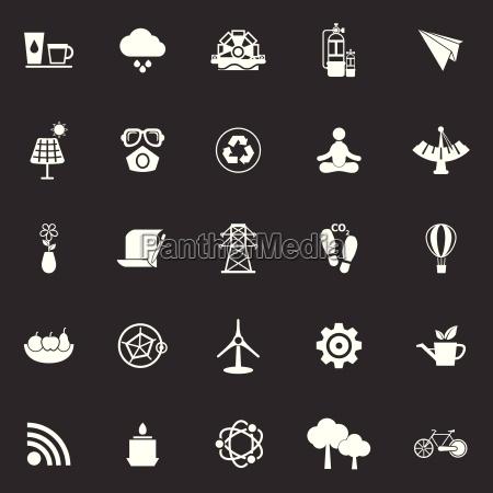 sauber konzept symbole auf grauem hintergrund