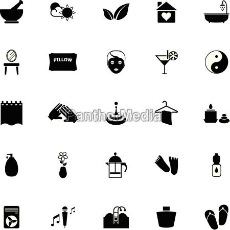 massage icons on white background