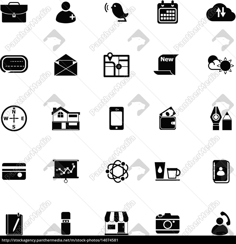 handy, symbole, auf, weißem, hintergrund - 14074581
