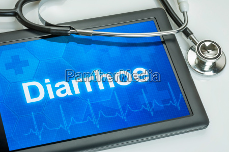 tablet with the text diarrhoe on