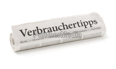 newspaper roll with the heading consumer