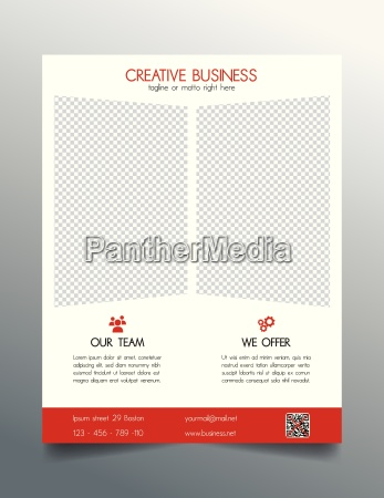 creative business flyer template red