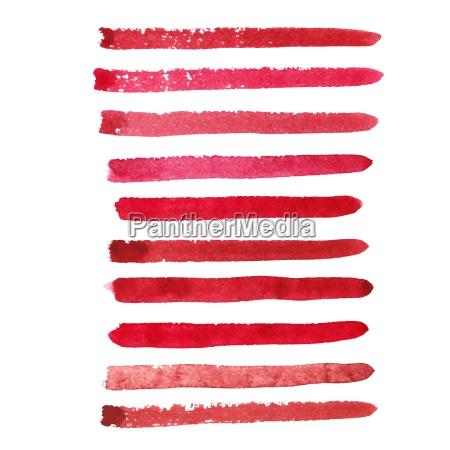 set of marsala color brush strokes