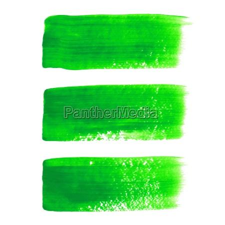 green acrylic painted vector brush stroke