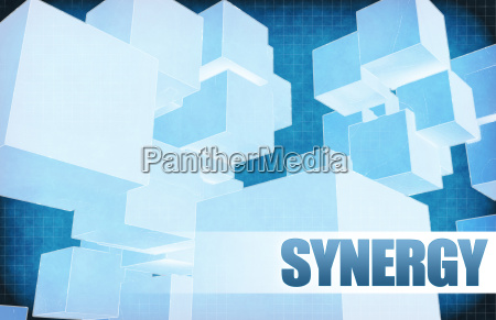 synergy on futuristic abstract