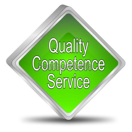 qualitaet kompetenz service button