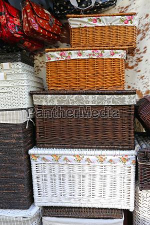 canasta decoracion rota caja cajas cestas