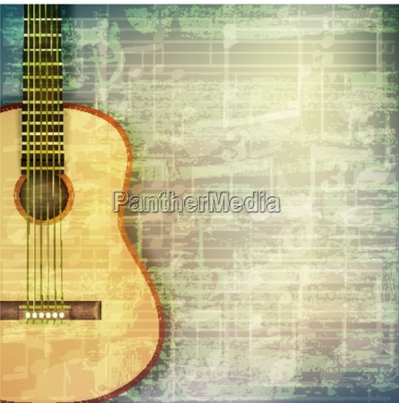 abstract grunge music background with acoustic