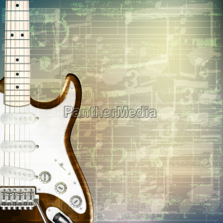 abstract grunge music background with electric