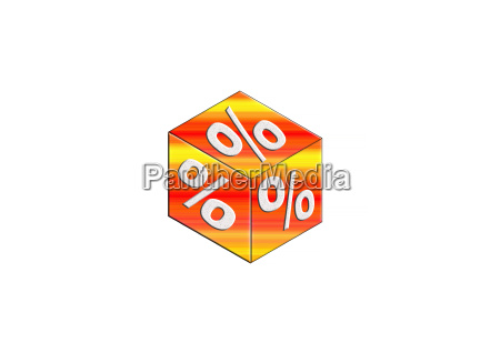 cube with percent sign
