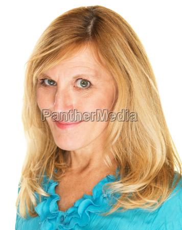 close up of flirting lady
