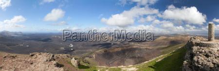 lanzarote panorama von der montana