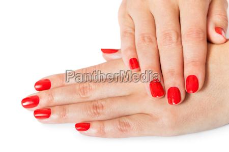 kvinde haender med smukke velplejede fingre