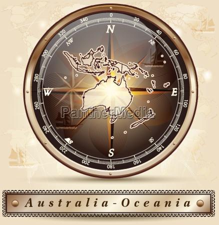 karte von australien ozeanien